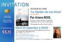 Invitation du Bnai Brith France