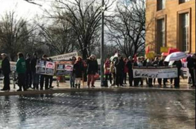 Rassemblement devant la Cour d'Appel de Metz  Lors de l'audience devant la cour d'appel