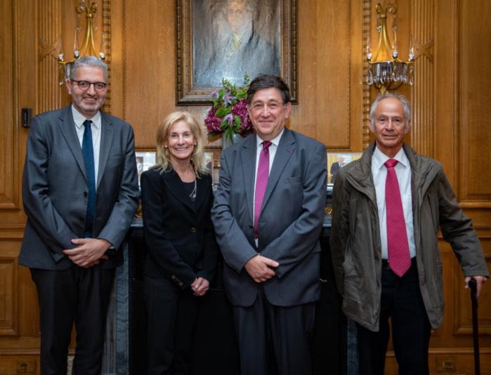 Le Président du B'nai B'rith France, Philippe Meyer, reçu par Madame l'Ambassadeur des Etats-Unis en France