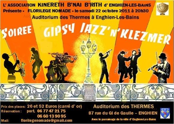 Soirée « FLORILEGE NOMADE » - LOGE KINERETH B'NAI  B'RITH d'ENGHIEN
