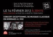 Concert exceptionnel en hommage à l'OSE salle Gaveau (16 Février 2012)