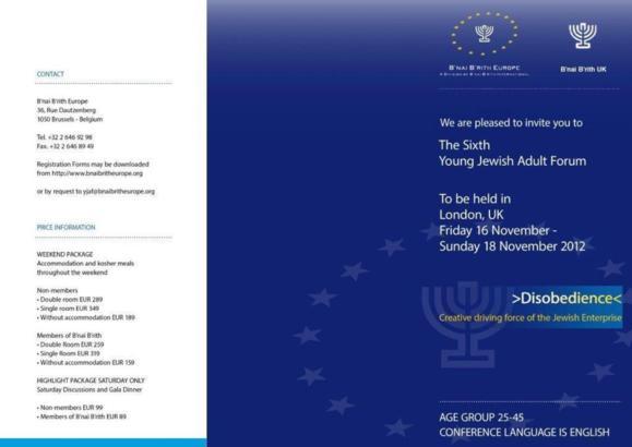 6e Forum des Jeunes Adultes du B'nai B'rith Europe