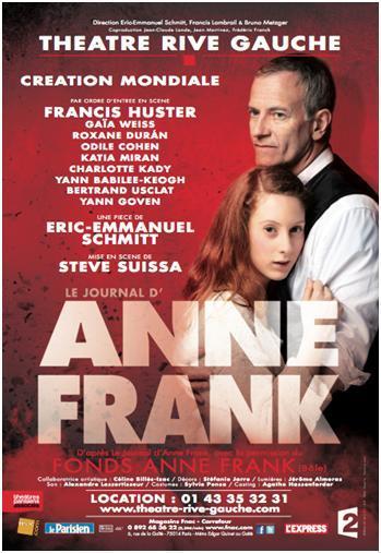 """25/10/12 - LA LOGE ANNE FRANK VOUS INVITE AU THEATRE """"LE JOURNAL D'ANNE FRANK"""