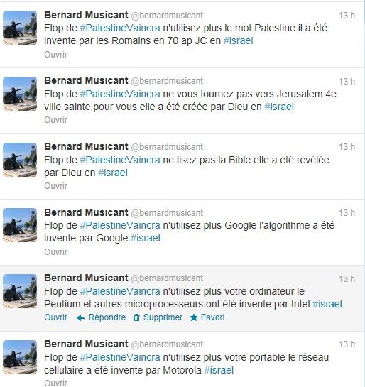 Une soirée banale sur Twitter ? Le flop du hashtag #PalestineVaincra