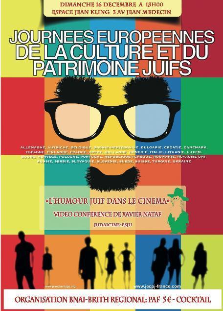 La Région Nice Côte d'Azur du B'nai B'rith France Organise une Conférence de Clôture JOURNEES EUROPEENNES DE LA CULTURE ET DU PATRIMOINE Dimanche 16 Décembre