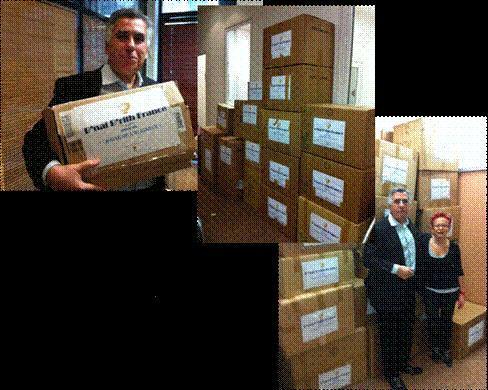 ACTION NATIONALE « La Chaine de l'Alliance - Pour redonner le sourire aux Enfants d'Israël » Plus de 1400 jouets ont été collectés dimanche 9 décembre 2012