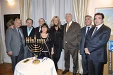 Le B'nai B'rith France Invité  par l'Ambassadeur d'Israël en France Son Excellence Yossi Gal à l'allumage de la 3ème bougie de hanoucca