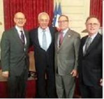L'Ambassadeur d'Israël en France Yossi Gal, D. Mariaschin & A. Jacobs