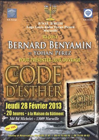 28/02/13 - « LE CODE D'ESTHER » à Marseile