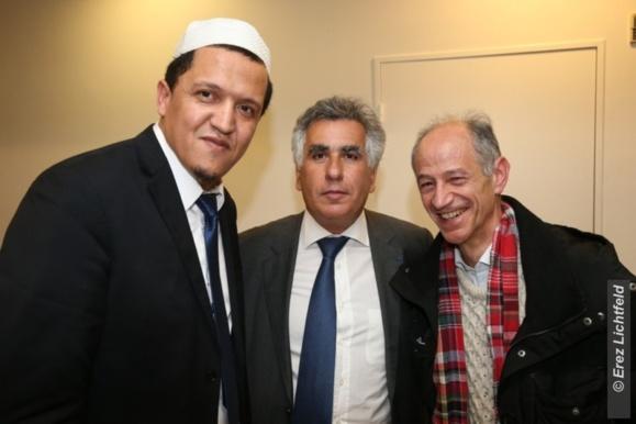 Hassen Chalghoumi, Imam de Drancy, a tenu lundi 4 mars 2013 une conférence organisée par le B'nai B'rith France