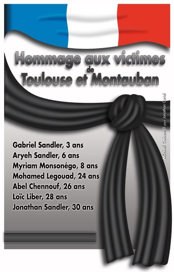 HOMMAGE AUX VICTIMES DE TOULOUSE ET MONTAUBAN MARDI 19 MARS A 17h30 A LA MAIRIE DU XVIème