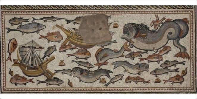 La mosaïque de Lod, détail (partie basse)