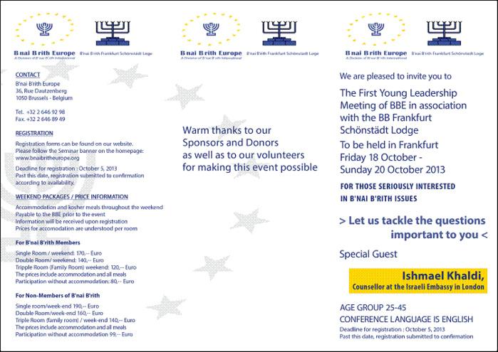 Young Jewish Leadership Seminar of B'nai B'rith Europe