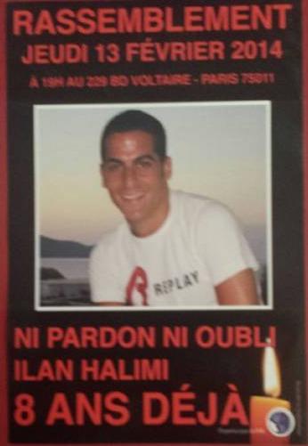 Souvenons-nous d'Ilan Halimi - Participez au rassemblement ce jeudi 13 Février à Paris