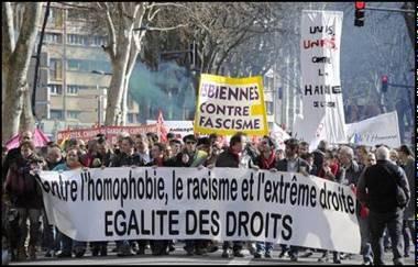 Le B'nai B'rith France dénonce les messages « anti juifs » lancés lors de la manifestation Toulousaine pour dénoncer les inscriptions antisémites et homophobes taguées le week end du 15 au 16 février dernier sur les murs de Toulouse