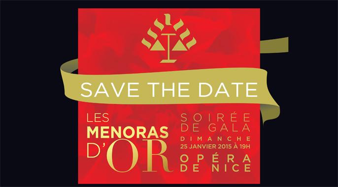 Invitation à la 8ème cérémonie des ménoras d'or