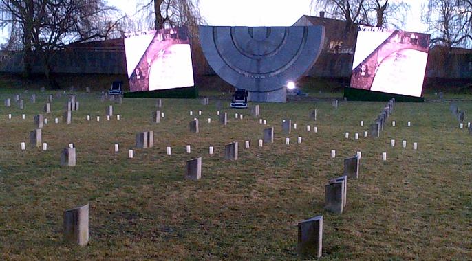Le Président du BBF à la commémoration des 70 ans de la libération du camp de Terezinstadt