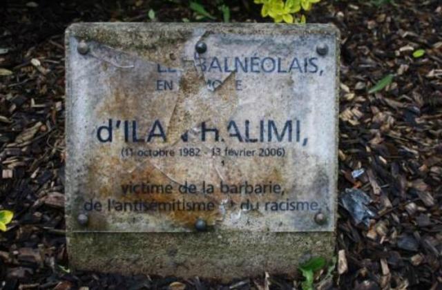 Vandalisme  contre la plaque à la mémoire d'Ilan Halimi