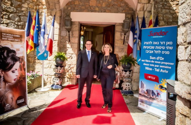 Le Bnai Brith de la cote d'Azur à l'inauguration de la ligne Sun Dor