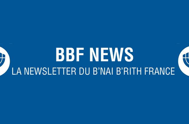 NEWSLETTER DU B'NAI B'RITH FRANCE MAI 2015