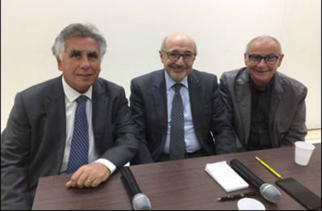 Serge Dahan, Président du BBF, Francis Kalifat, Président du Crif, Aris Hauptschein, vice-président régional