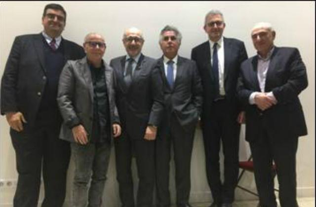 Yves Kamami, Aris Hauptschein, Francis Kalifat, Serge Dahan, Philippe Meyer, André Ouazana