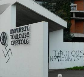 Le B'nai B'rith France condamne les messages de haine antisémites et homophobes « tagués » sur les murs de nombreux bâtiments de Toulouse