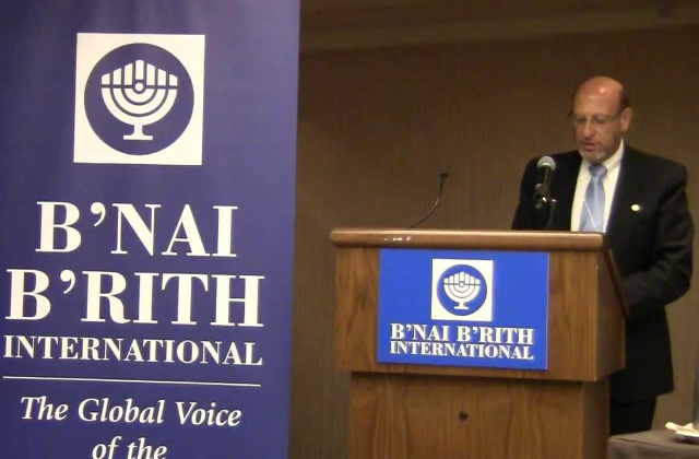 Gary Saltzman nouveau Président du B'nai B'rith International