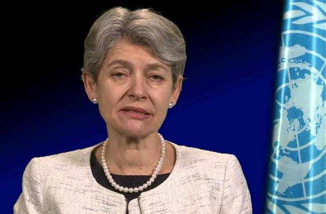 Information, lettre de la directrice générale de L'UNESCO au BBF